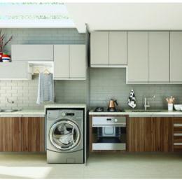 5 soluções para cozinhas e lavanderias conjugadas