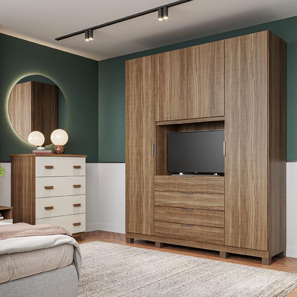 Rimo lança roupeiro home office, que agrega nova funcionalidade ao dormitório