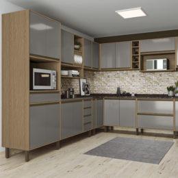 Cozinha modulada Vitória é o novo lançamento da Móveis Rimo
